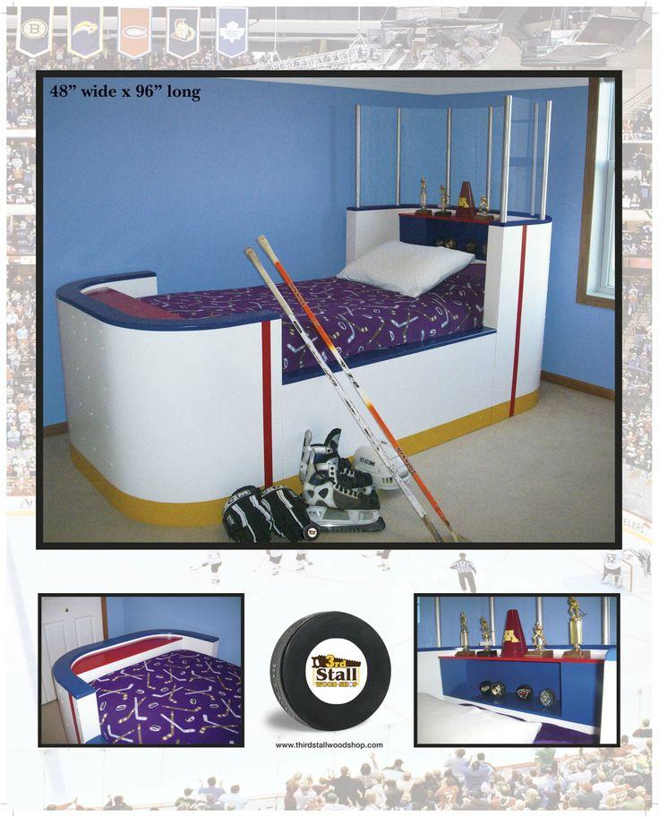 144 best hockey room images on pinterest child room for Decorative stuff for bedroom