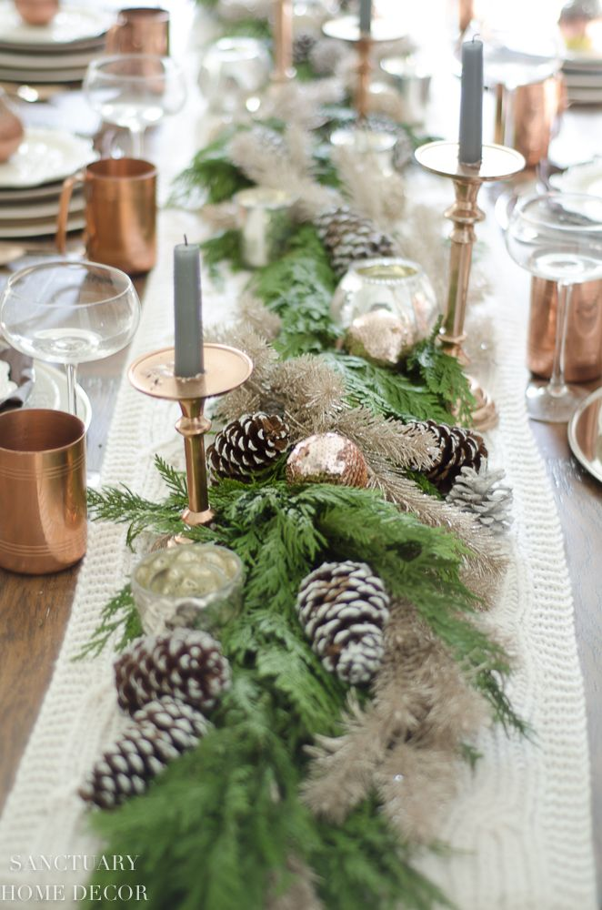 A Neutral Christmas Tablescape With Copper Accents Ciao Holidays