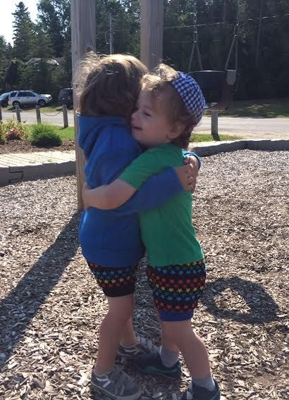 Little boys love little Teegy Shorts...and each other!