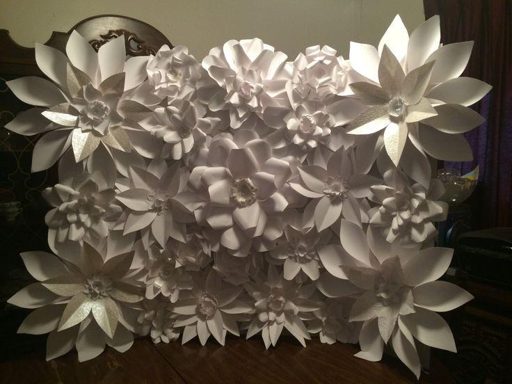 Pared de flores de papel foto o telón de fondo por FantasyinFlorals