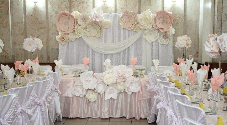 Оформление зала свадебного торжества