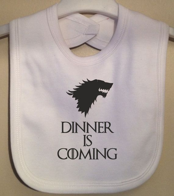 ovários retorcendo!!!! Dinner is Coming Bib Take on Winter is by TwinkleJellyDesigns