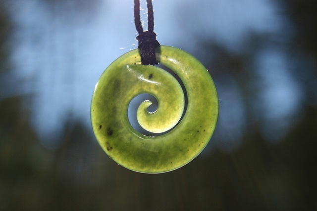 """koru by pointybunny  The koru (Māori for """"bight""""[1] or """"loop""""[2]) is a spiral shape based on the shape of a new unfurling silver fern frond and symbolizing new life, growth, strength and peace.[3] It is an integral symbol in Māori art, carving and tattoos. The circular shape of the koru helps to convey the idea of perpetual movement while the inner coil suggests a return to the point of origin."""
