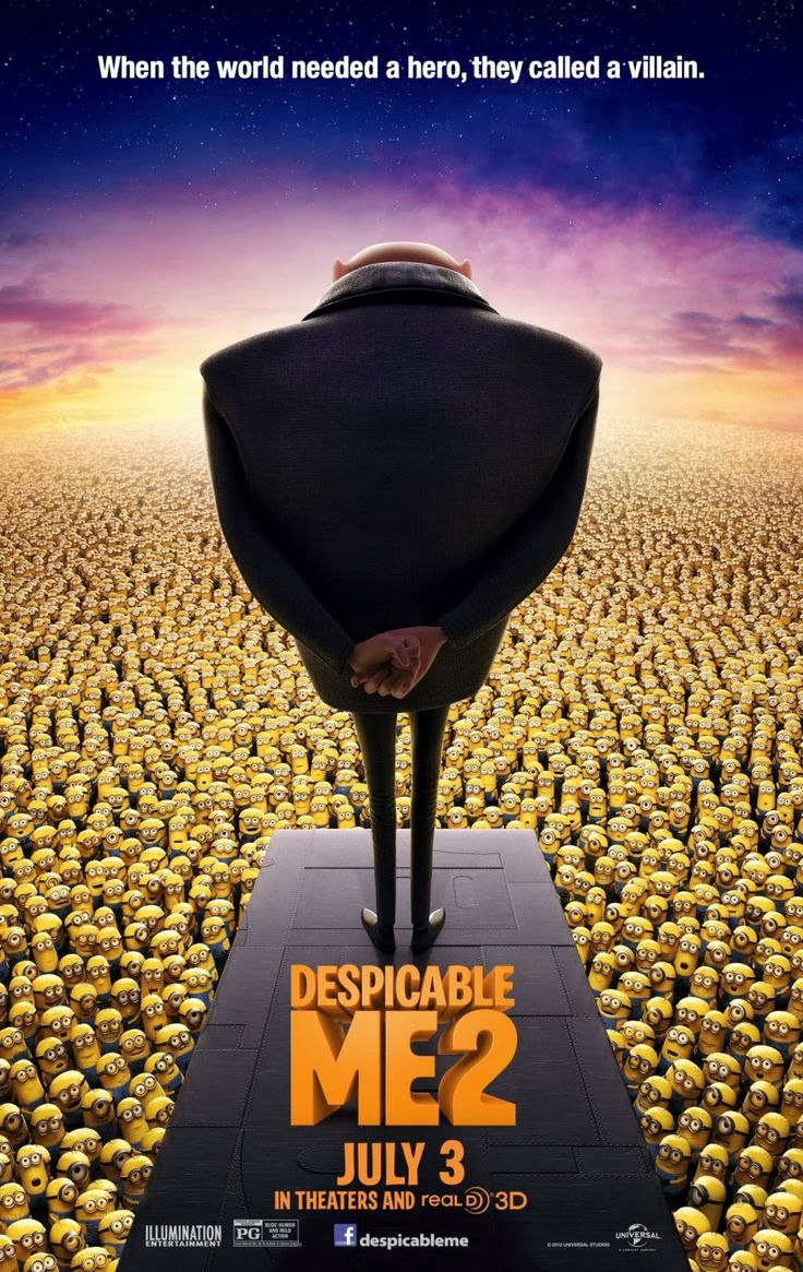 Despicable Me 2 is one rare case of a sequel that is as good as or even better than the first one. I love Gru, his contradictory person...
