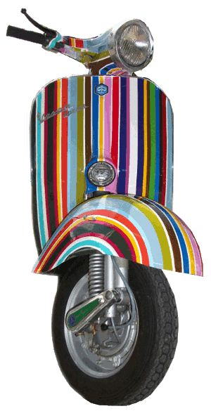Vespa scooters completelly customed | Bene Asai Classic Vespa Shop ...