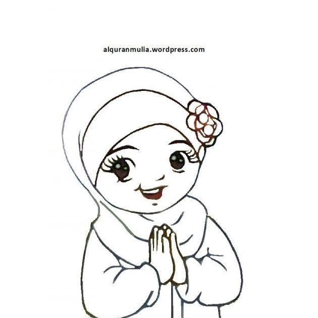 Fantastis 30 Gambar Kartun Islam Mewarnai Di 2020 Kartun Gambar