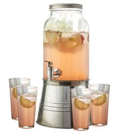 I have this dispenser and love it!: Dispenser Includes, Backyard Soiree, Glass, Bucket Inspired Base, Newport Beverage, Beverage Dispenser, Essential Beverage
