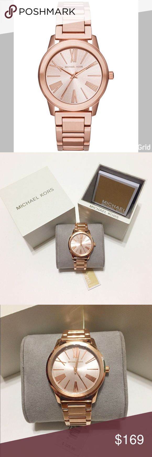 🆕 MK Hartman Rose Gold-tone Stainless Steel Watch Brand new and 100% authentic Michael Kors Women's Watch. Rose Gold-tone stainless steel 38mm bracelet watch. Round case, rose gold tone dial with Roman numerals, stick indices, three hands and Michael Kors logo. Water resistant to 50 meters. A very light weight timepiece from the Hartman collection. Wonderful gift or just simply to add to your collection.... brand new with film sticker still attached on front and back of round case and band…