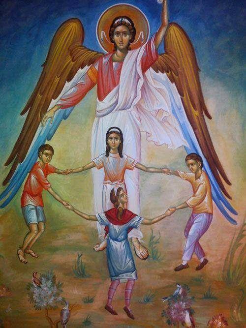 Greek Orthodox Icon of a Guardian Angel