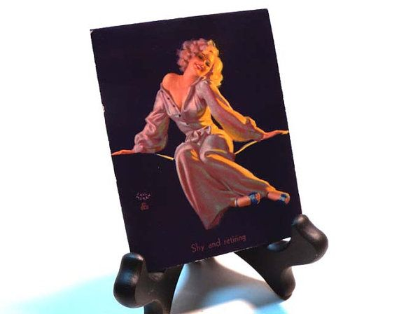 Authentic Vintage 1940s Earl Moran  Risque Pin Up by PinkyAGoGo, $9.99