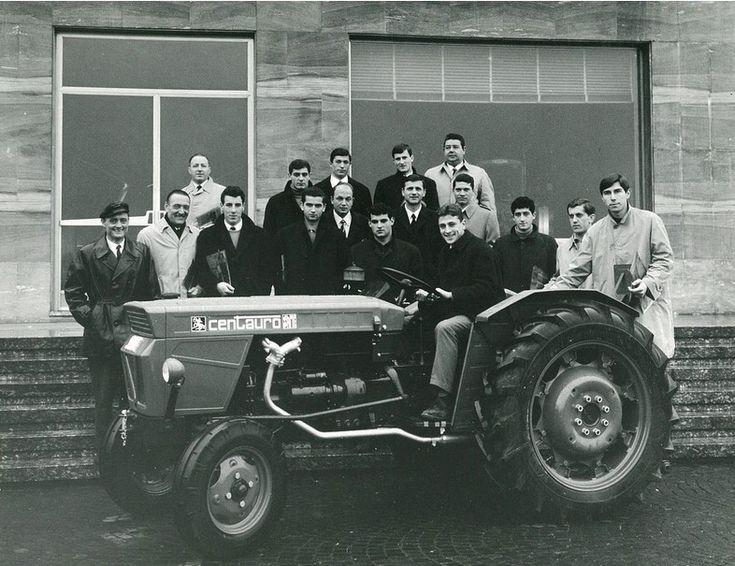Trattore Same CENTAURO con squadra di calcio Udinese (1966)