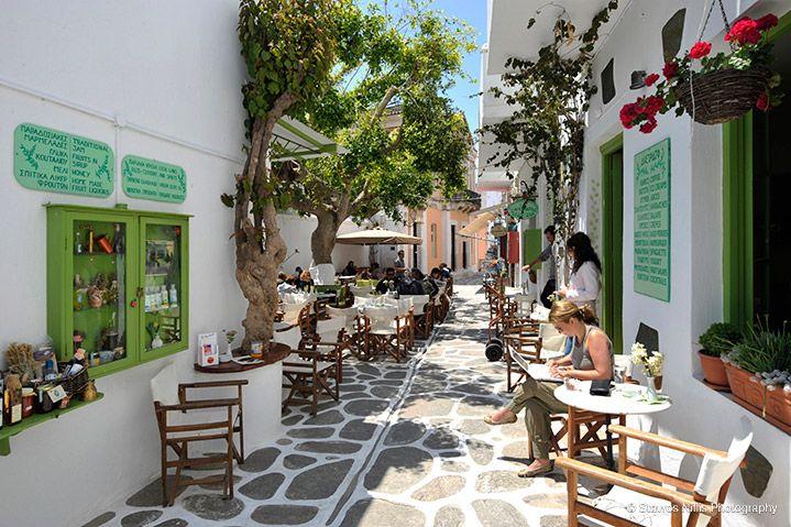 Parikia Paros,Greece. Discover the narrow streets in Parikia's old town