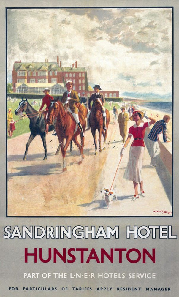 Hunstanton - Sandringham Hotel Art Print by National Railway Museum at King & McGaw