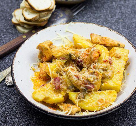 Friptura de piept de pui cu cartofi la cuptor