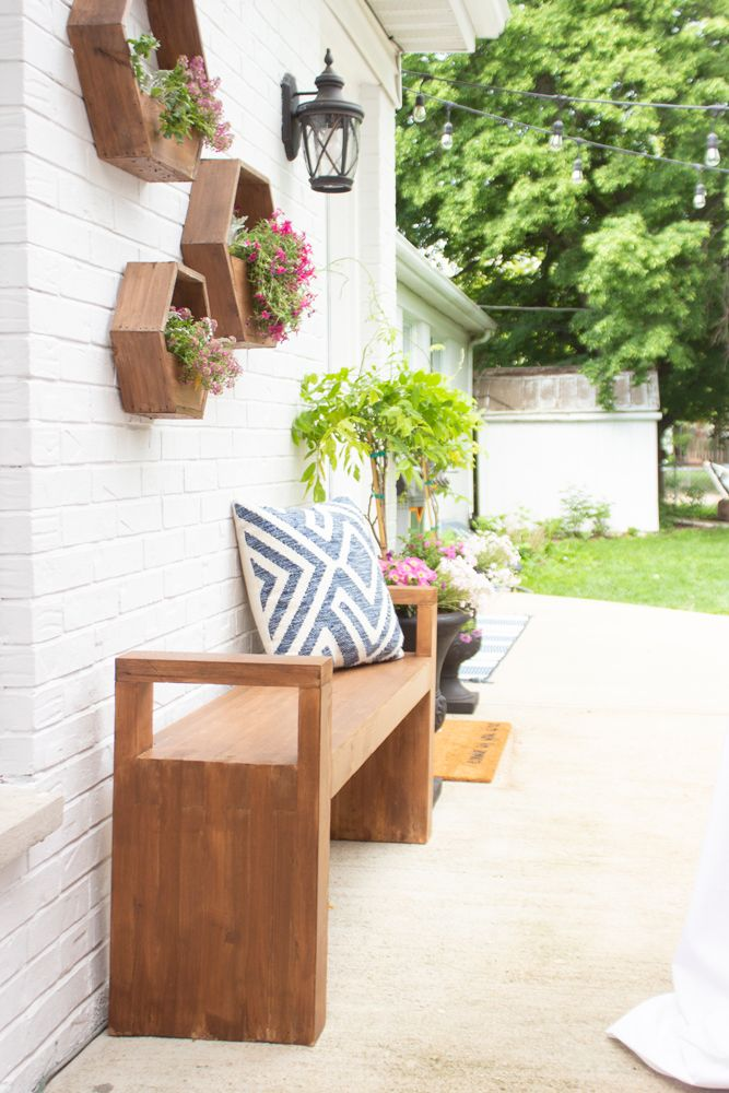 Outdoor Modern Bench Outdoor Entryway Decor Modern Outdoor