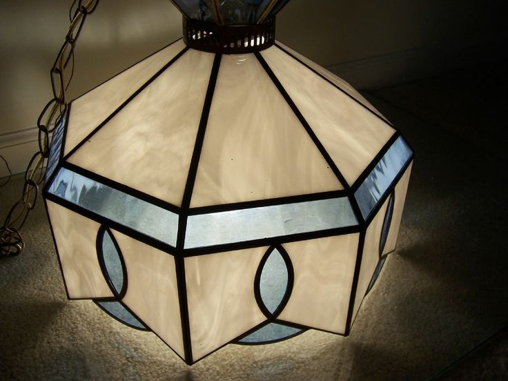 VINTAGE TIFFANY STYLE SPARKLING CHANDELIER HANGING CEILING SWAG LIGHT  FIXTURE! #Tiffanystyle
