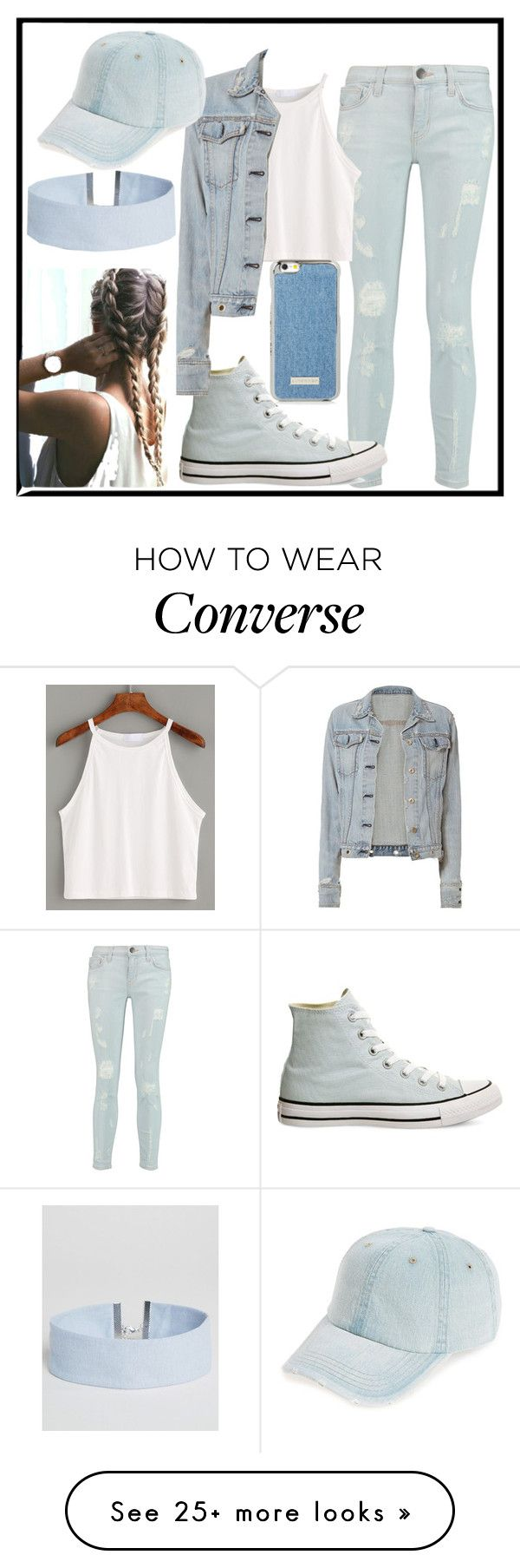 """""""Denim Everything"""" by mikahbae on Polyvore featuring Current/Elliott, Converse, rag & bone, Fantasia and ASOS"""