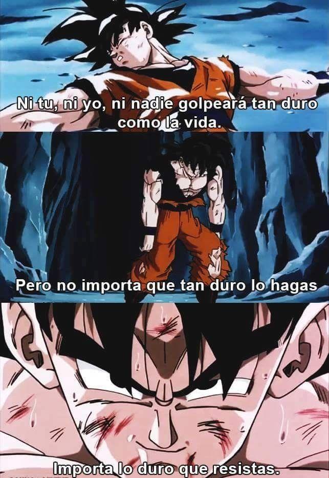 Frases De Motivación Frases Del Anime Frases Goku Y