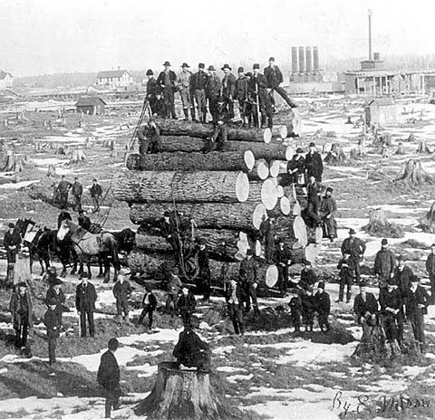 Michigan History in the 1800 | Big Load: 1890s | Shorpy Historical Photo Archive