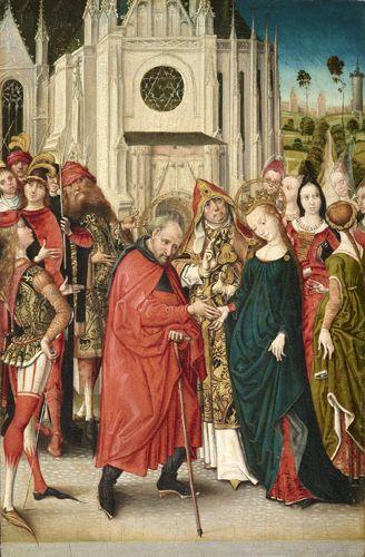 Maître de la Vue de Sainte-Gudule (atelier de ou suiveur) : Mariage de la Vierge