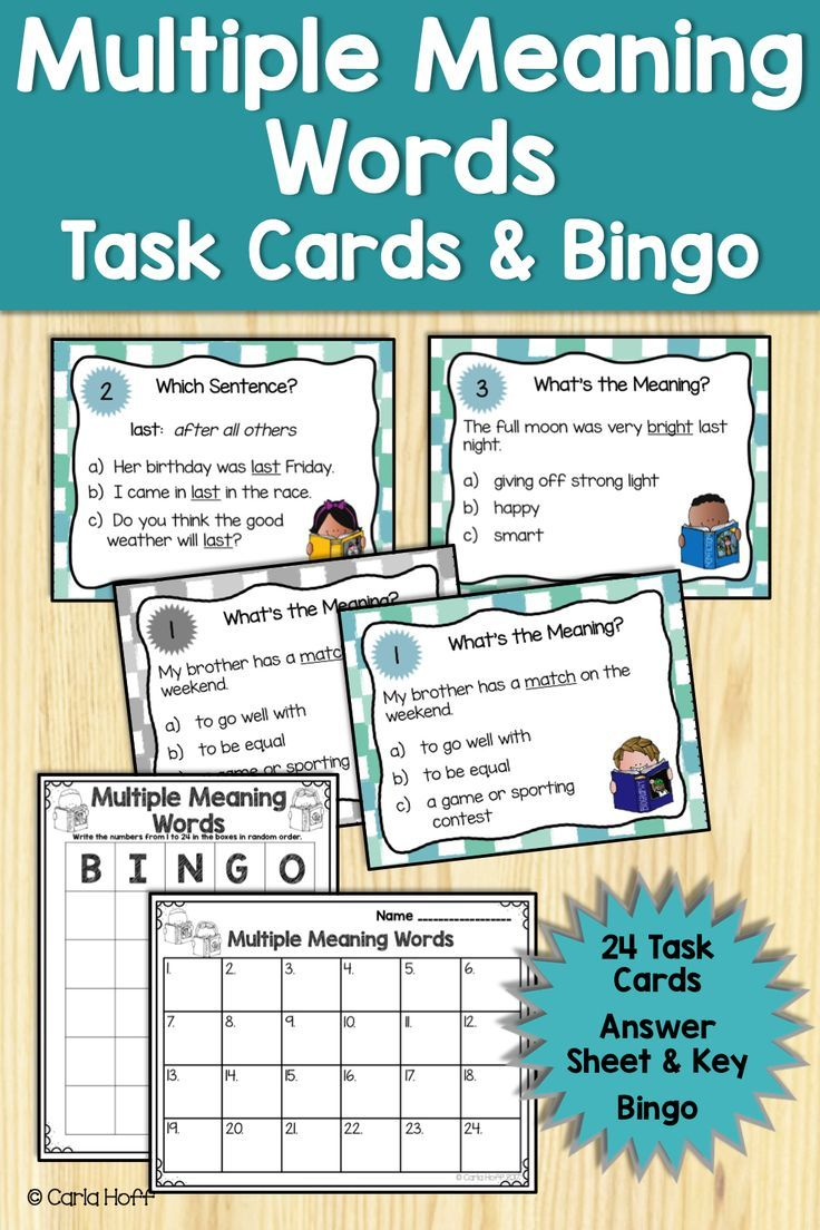 Say Goodbye To Grammar Worksheets And Give Your Third Grade Fourth Grade Or Homeschool Students Lo Multiple Meaning Words Task Cards Language Arts Task Cards [ 1104 x 736 Pixel ]