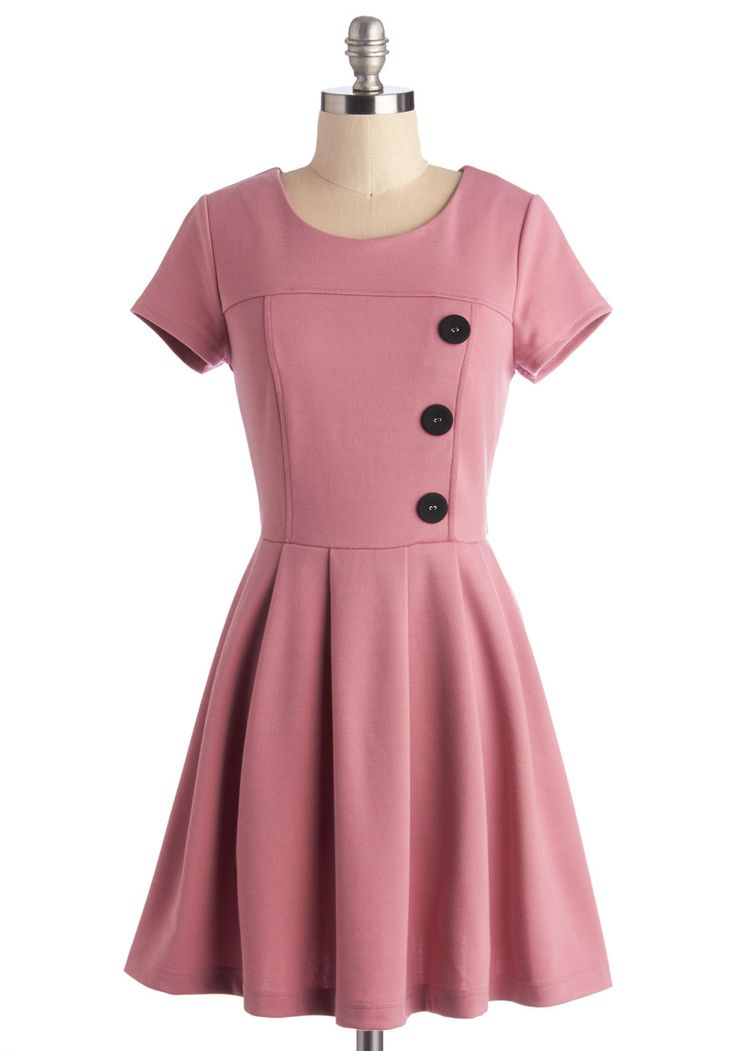 Either Or Dress in Pink. Cant decide between stylish clothes and staying comfortable? #pink #modcloth