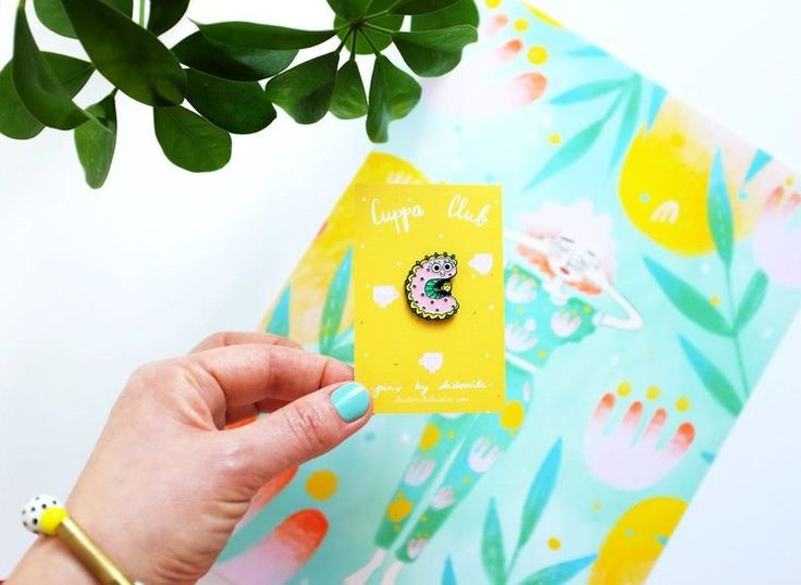 Day 3: Win a cuppa club caterpillar enamel pin by Viktorija of Andsmilestudio in Digibloom's 7 Days of Christmas giveaway!