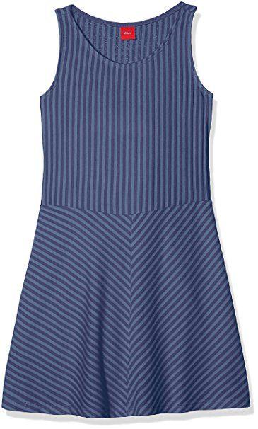 s oliver maedchen kleid 73 806 82 2809 blau blue stripes 57g0