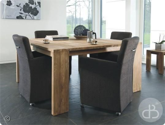 Table teck Dbodhi carrée Gamme Fissure 150