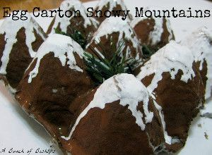 These Egg Carton Snowy Mountains are one of my favorite recycled crafts for winter!