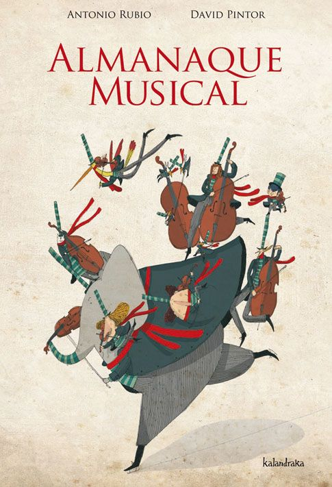 """David Pintor cover illustration for """"Almanaque Musical""""."""