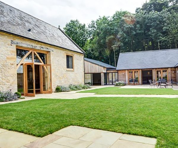 The Courtyard At The Barn At Upcote Wedding Venue In