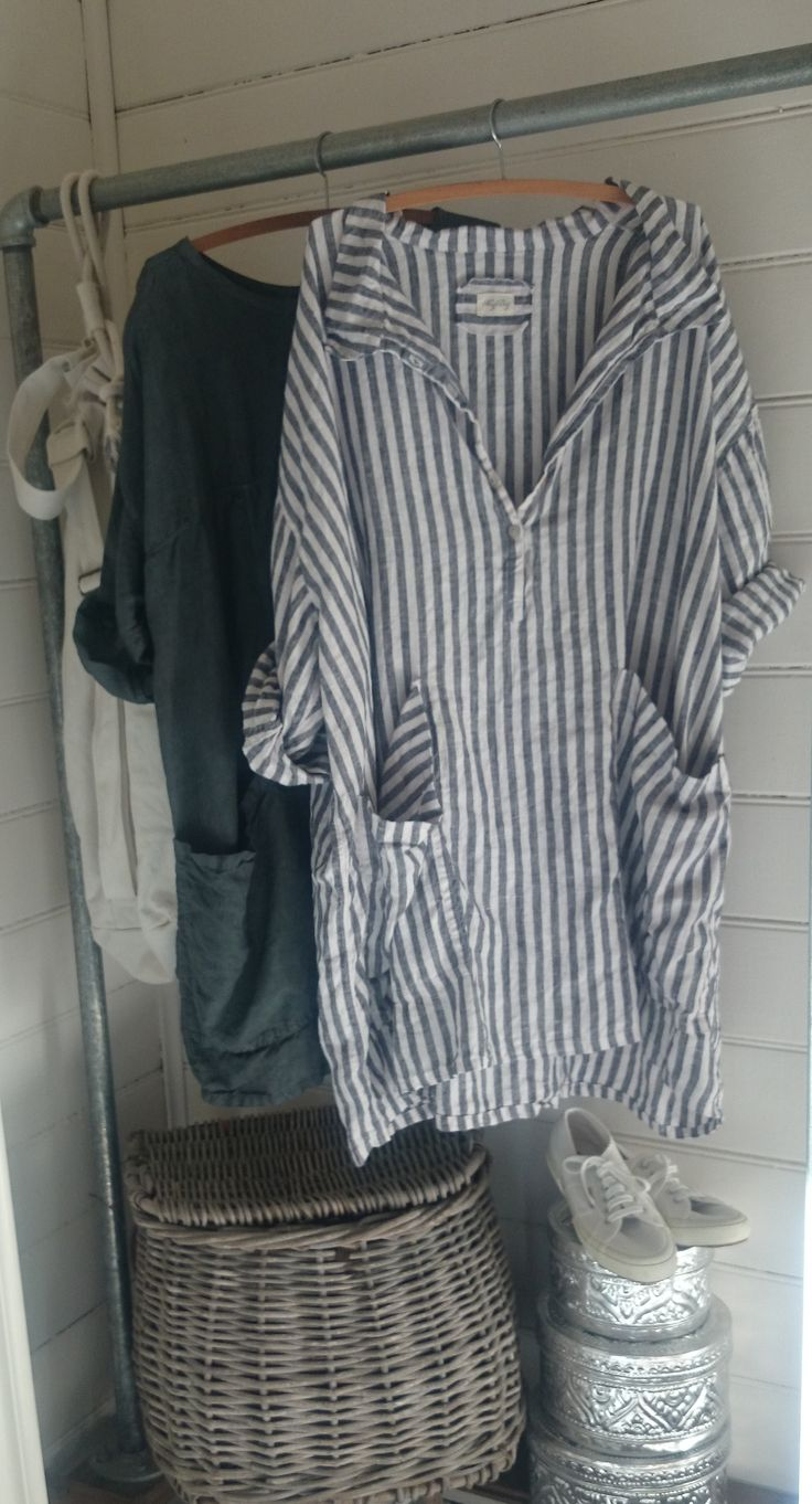 I can make this for waaaaaay less. Navy and White Striped Linen Dress/Tunic MegbyDesign