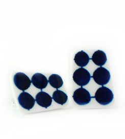 Earrings Adam - Earrings manufactured from recycled porcelain.