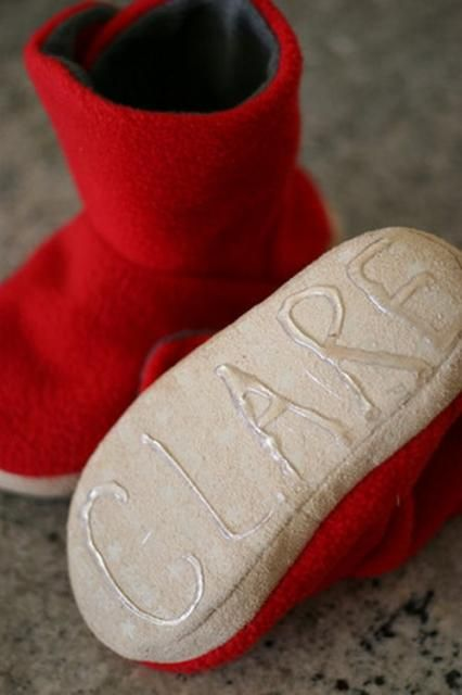 Use hot glue to make slippers non-slip. Perfect for baby shoes, personalized and effective