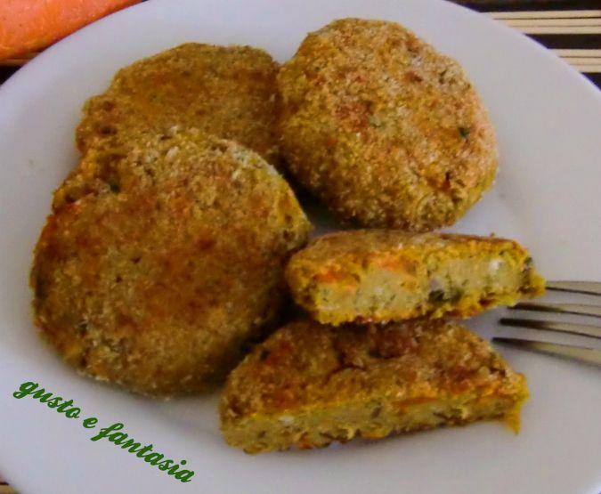hamburger di pollo e verdure al forno