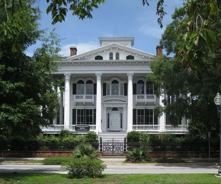 The Bellamy Mansion, in Wilmington, North Carolina, was built 1859-1861. Designed with Greek Revival & Italianate styling, this 22 room house was designed by architect James F. Post, & draftsman Rufus Bunnell, who oversaw the construction of the mansion. Originally built as a private residence for the family of Dr. John D. Bellamy, a prominent planter, physician & businessman. The home was taken over by Federal Troops during the Civil War