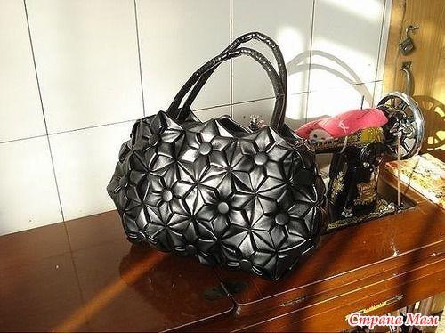 Кожаная сумка-оригами