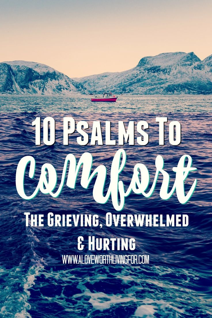 Whether you are suffering from a loss, overwhelmed by grief or just worn down & stressed, these 10 Comforting Psalms are great to have in your arsenal. At the very least pin this or write them down for later!