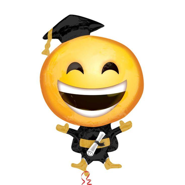 Graduation Balloon Supershape Grad Emoji Emoticon Graduation Party Decorations #ebay #Home & Garden