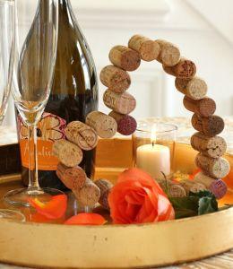 Cork heart for decor, MK - Пробковое сердце для декора, МК