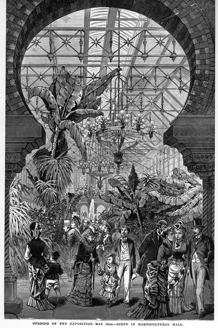 machinery hall centennial exposition 1876 philadelphia essay Machinery hall the focal point of the exposition was machinery hall, and the focal point of machinery hall was the corliss steam engine  the seventy-foot-tall, 1,500 horsepower double engine powered thirteen acres of machinery via five miles of shafting, gears, pulleys, and belts.
