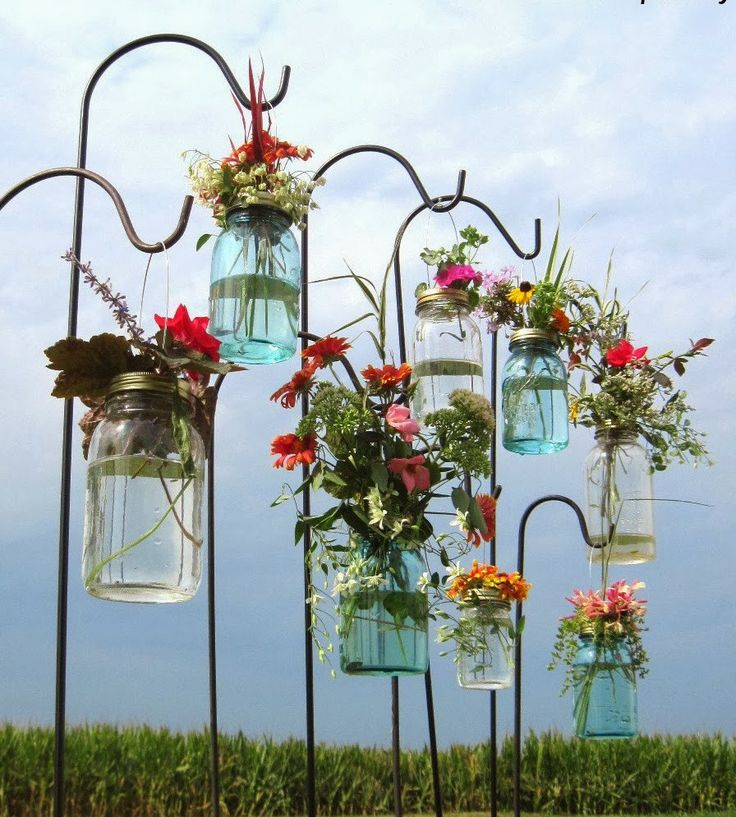 WEDDING RECEPTION DIY: MASON JAR VASES
