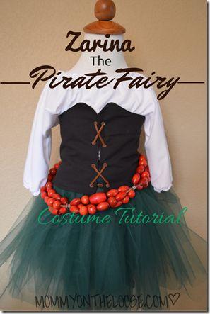 Zarina, The Pirate Fairy Costume Tutorial (how to make a pirate shirt)