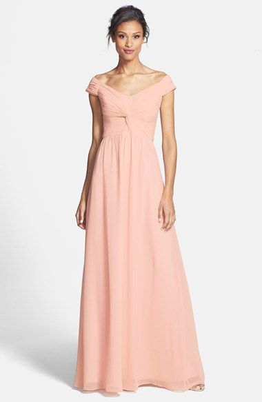 peach knot front maxi dress