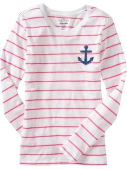 nautical stripe shirt with anchor -#nautical, #anchor
