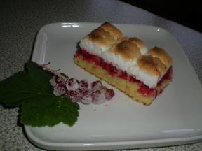 Ribisel Kuchen mit Schneehaube
