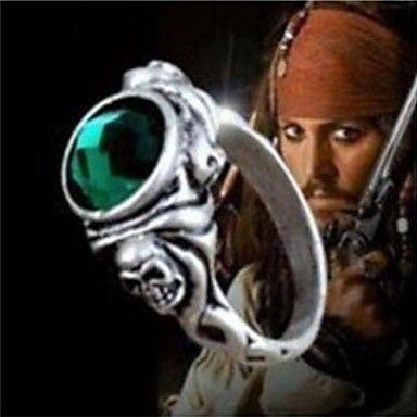 unisex Pirates of the Caribbean kapteeni Jack kallo elokuvan lausuman renkaat (1 kpl) – EUR € 4.19