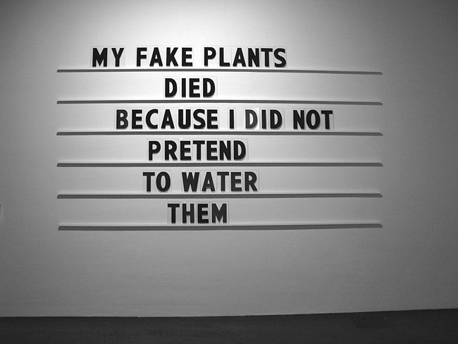 Text from Mitch Hedberg, but whose installation art is this..?: Fake Plants, Plays Games, Mitch Hedberg, Black And White, Mitchhedberg, Funny Stuff, Wood Wall, Steve Kuorinki, Plants The