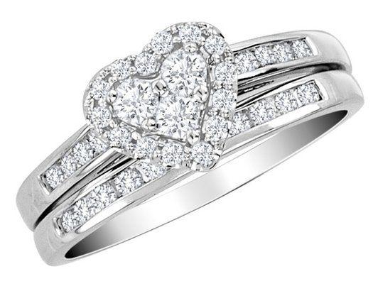 600 diamond heart engagement ring wedding band set 12 carat ctw